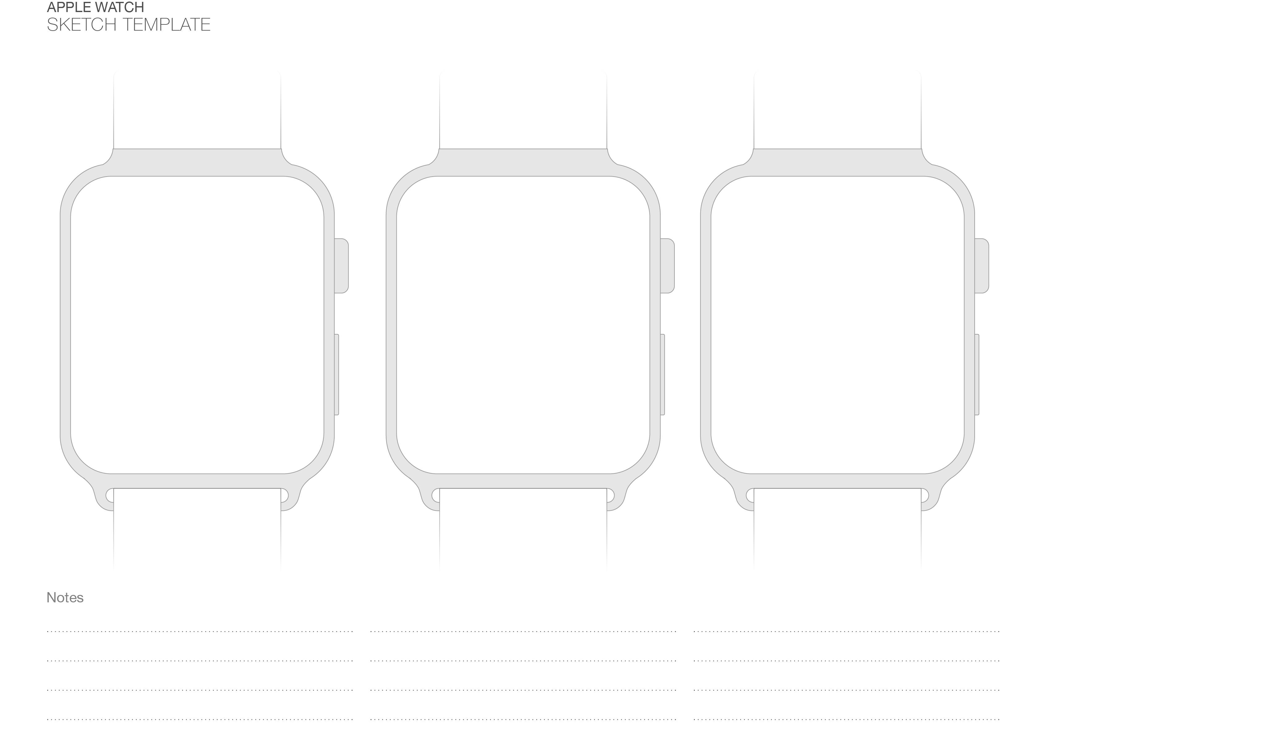 Apple Watch Sketch Template - Comést Savatino