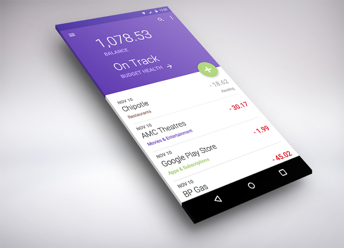 how to create apps with material design